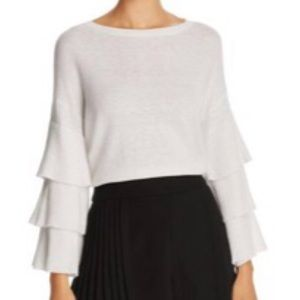 Alice + Olivia  Stora Tiered Sleeve Sweater